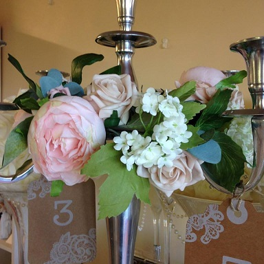 A centerpiece candleabra silver with floral ring to hire x 10 all a centerpiece candleabra silver with floral ring to hire x 10 mightylinksfo